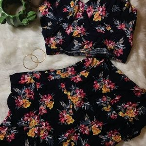 Two piece shorts and crop top